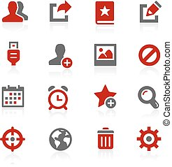 komunikacja, wektor, ikony