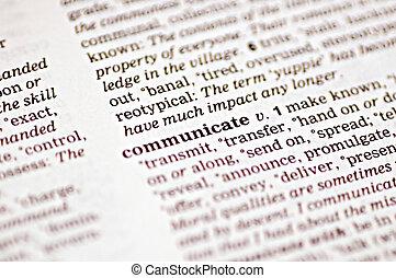 komunikować