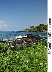 kona, 海岸線, ハワイ