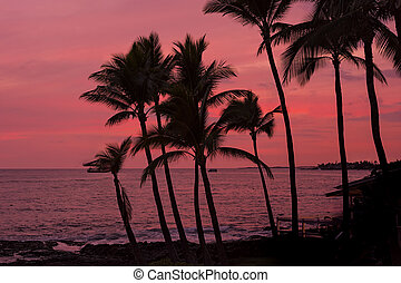 Kona sunset Big Island Hawaii