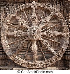 Konark - wheel of sun god temple