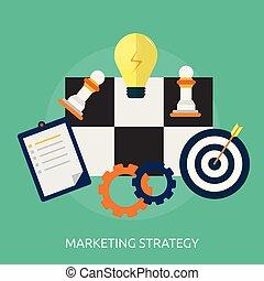 konceptualny, handel, projektować, ilustracja, strategia