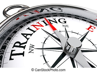 konceptualny, trening, busola
