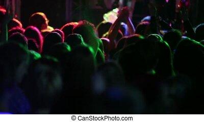 koncert, ludzie, oklaskiwać, dużo, za, prospekt