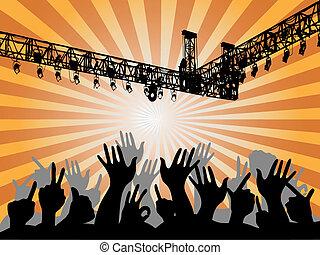 koncert, ludzie