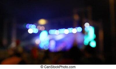 koncert, rusztowanie