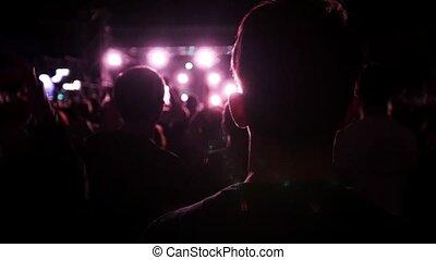 koncert, skała, powolny-ruch, ludzie