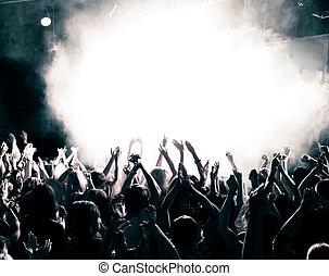 koncert, tłum