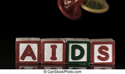 kondome, fallender , blöcke, farbig