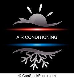 kondycjonując, powietrze