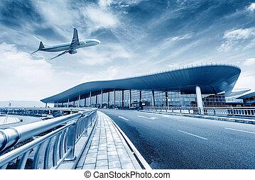 konec, letiště