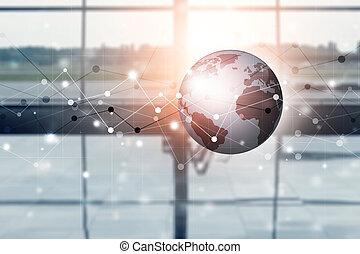 konexe, smíšený, souhrnný, grafické pozadí, střední jakost