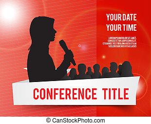 konference, illustration