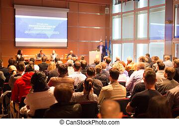 konferencja, hall., audiencja