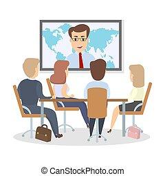 konferencja, handlowy, meeting.