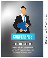 konferencja, ilustracja