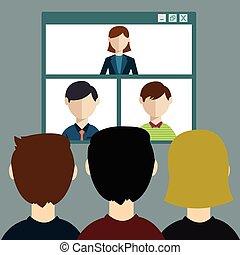 konferencja, online, video, spotkanie