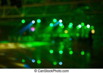 konferens, konsert, suddig, belysning, bakgrund, händelse, sal