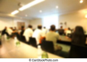 konferenz, Verwischt, heraus, Zimmer, Fokus