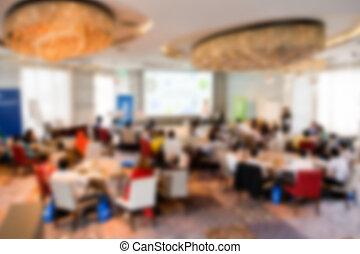 konferenz, Zimmer, Verwischt