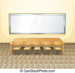 konferenzzimmer, leerer