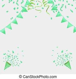 konfetti, ünneplés