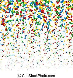 konfetti, bakgrund