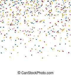 konfetti, fallender , endlos