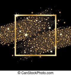 konfetti glitzer schwarzer hintergrund gold goldenes clipart vektor suche illustration. Black Bedroom Furniture Sets. Home Design Ideas