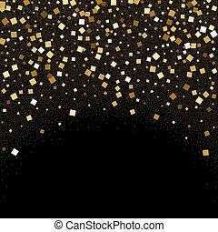 konfetti glitzer schwarzer hintergrund gold goldenes clipart vektor suchen sie nach. Black Bedroom Furniture Sets. Home Design Ideas