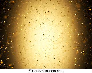 konfetti, guld