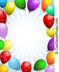 konfetti, léggömb