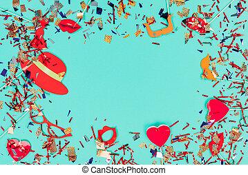 konfetti, lakberendezési tárgyak, ünnep