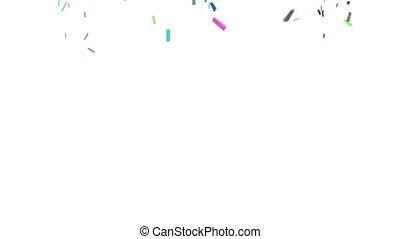 konfetti, mit, alpha