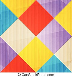 konfetti square - abstract, colorful mosaic over paper...