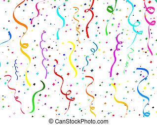 konfetti, stjärnfall