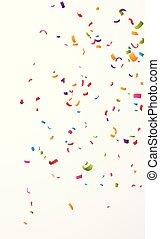 konfetti, színes, háttér