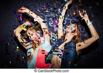 konfetti, tanzen
