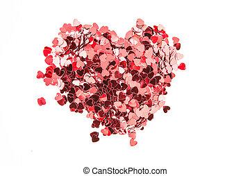 konfetti, valentinkort