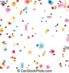 konfety, grafické pozadí., oslava