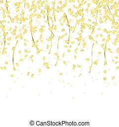konfety, padající, bezkoncovkový