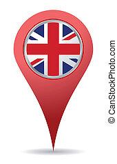 kongerige, foren, lokaliseringen, ikon