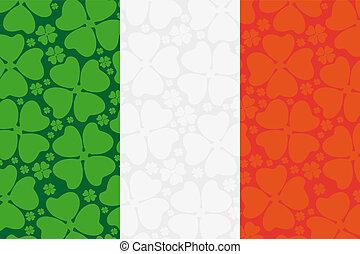 koniczyna, bandera, liść, irlandia