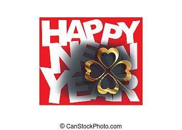 koniczyna, z, nowy rok