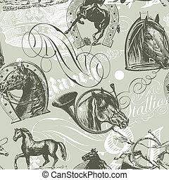 konie, próbka, seamless