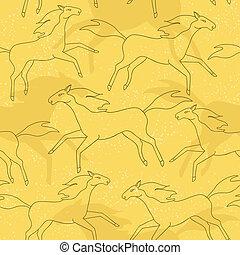 konie, próbka, wyścigi, seamless