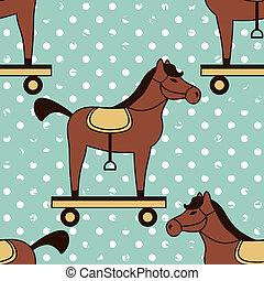 konie, próbka, zabawka, seamless