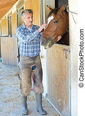konie, rolnik