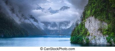 Konigsee lake in Berchtesgaden National Park - Beautiful...