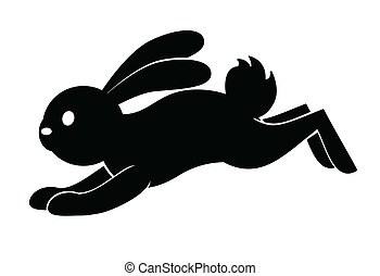 konijn, sprong, symbool